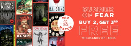 Buy 2, Get 3rd Free on Thousands of Items from Books-A-Million