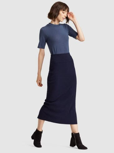 Luxe Merino Stretch Pencil Skirt from Eileen Fisher