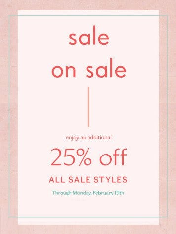 Additional 25% Off All Sale Styles from Free People