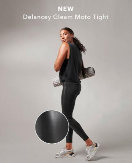 New Delancey Gleam Moto Tight from Athleta