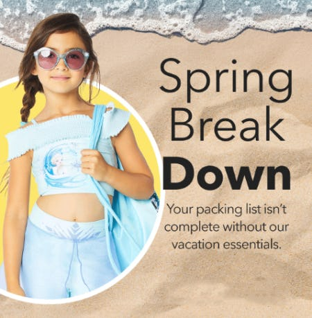 Spring Break Gear from Disney Store