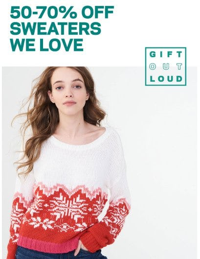 50-70% Off Sweaters from Aéropostale