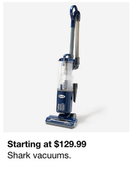 Shark Vacuums Starting at $129.99 from macy's