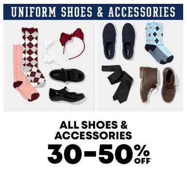 All Shoes & Accessories 30-50% Off from The Children's Place