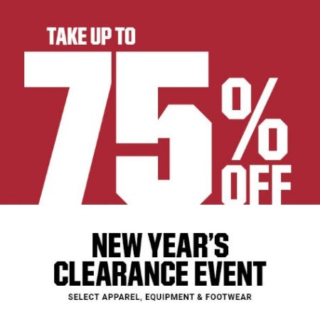 New Year's Clearance Event up to 75% Off