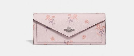 Soft Wallet With Floral Bow Print from Coach