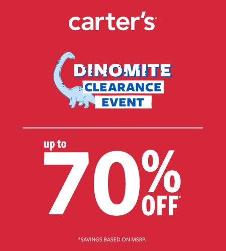 Dinomite Clearance Event Up to 70% Off*