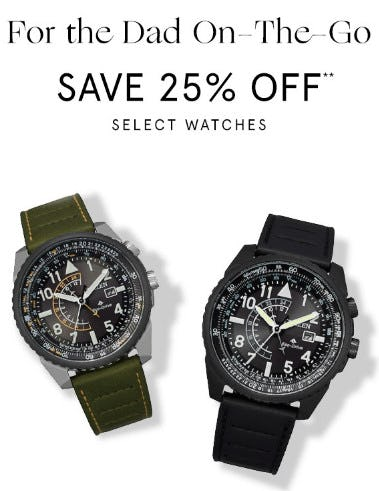 Save 25% Off Select Watches from Zales