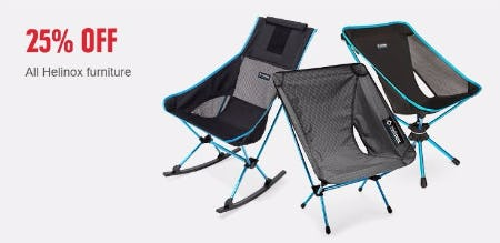 Sale At REI. 25% Off All Helinox Furniture