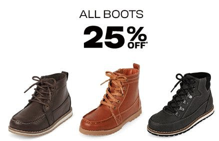 All Boots 25% Off from The Children's Place