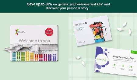Up to 50% Off Genetic & Wellness Test Kits from Target