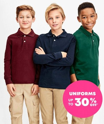 Uniforms up to 30% Off from The Children's Place