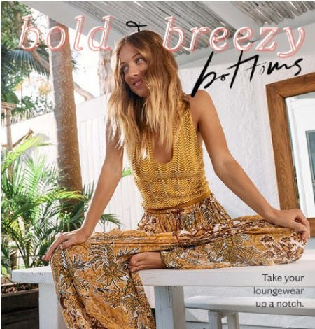 Bold & Breezy Bottoms from Free People