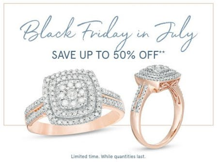 Up to 50% Off Black Friday in July Styles from Zales Jewelers