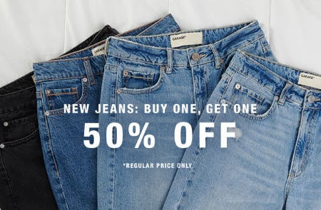 BOGO 50% Off New Jeans from Garage