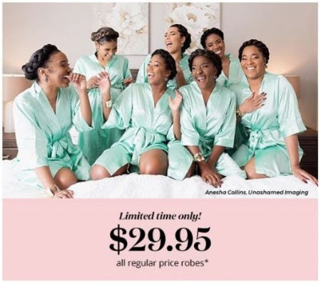$29.95 All Regular Price Robes from David's Bridal