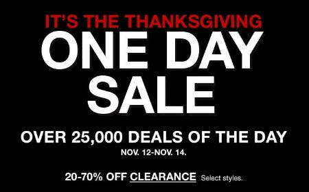 It's the Thanksgiving One Day Sale from macy's