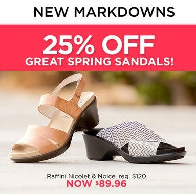25% Off Great Spring Sandals