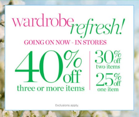 Wardrobe Refresh Event—Up to 40% Off from Talbots