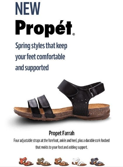 New Spring Comfort Styles from Propet from THE WALKING COMPANY