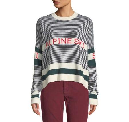 The Alpine Ski Striped Pullover Sweater from Neiman Marcus