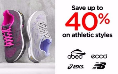 Save up to 40% on Athletic Styles