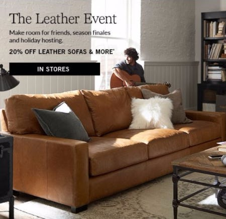 20% Off Leather Sofas & More