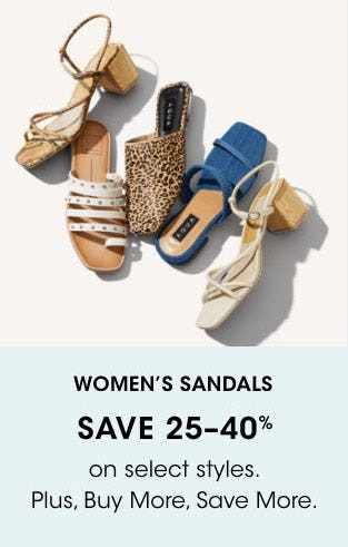 Women's Sandals Save 25-40%