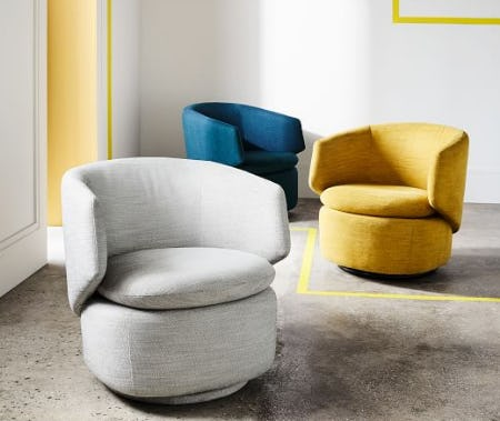 The Crescent Swivel Chair from West Elm