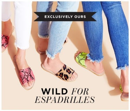 Limited-Edition Espadrilles from Vince Camuto