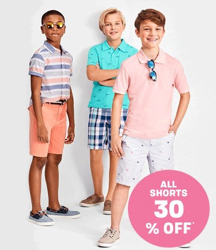 All Shorts 30% Off from The Children's Place Gymboree