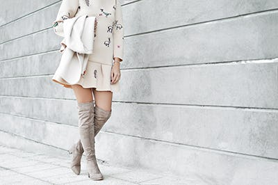 Over the Knee Boots: Perfect Transitional Piece She does.