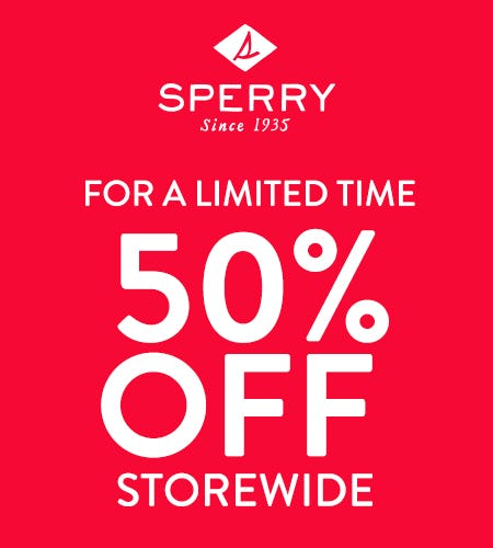 50% OFF STOREWIDE from Sperry Top-Sider