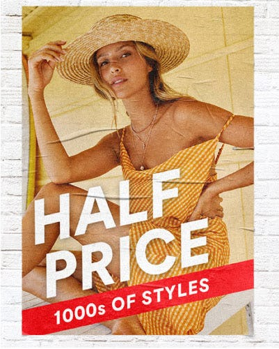 Half Price 1000s of Styles from Cotton On