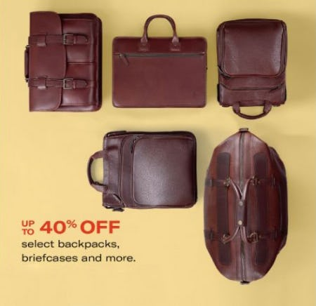 Up to 40% Off Select Backpacks, Briefcases and More from Allen Edmonds