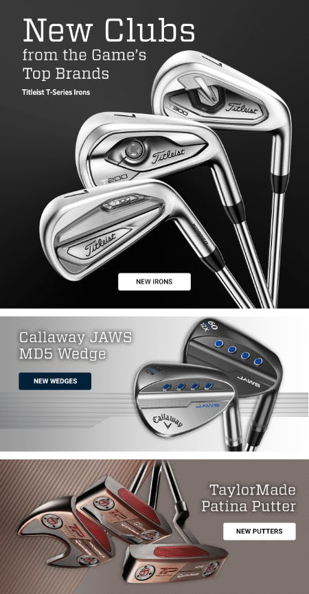 New Clubs from the Game's Top Brands from Golf Galaxy