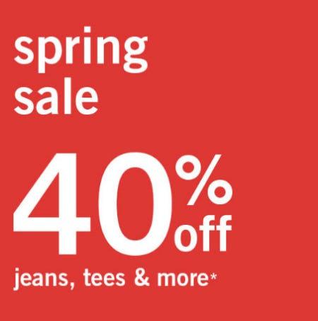 40% Off Spring Sale