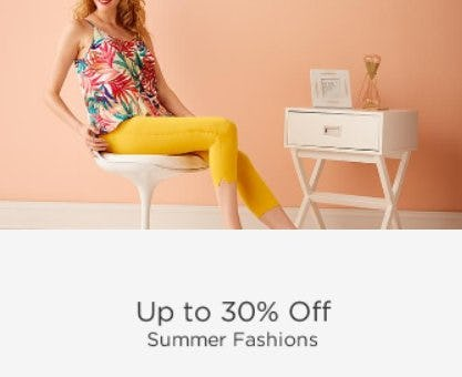 Up to 30% Off Summer Fashions from Sears
