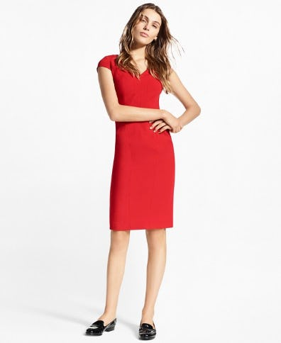Stretch-Wool Twill Sheath Dress from Brooks Brothers