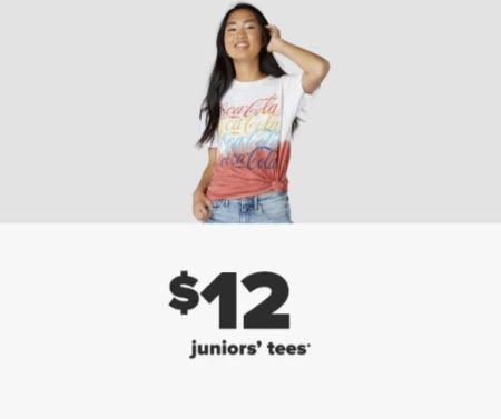 $12 Juniors' Tees from Belk