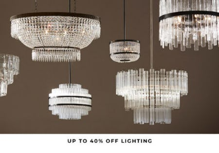 Up to 40% Off Lighting from Pottery Barn