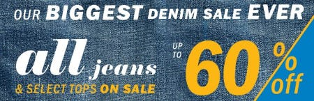 Up to 60% Off All Jeans & Select Tops on Sale from Old Navy