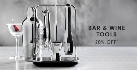 Bar & Wine Tools 20% Off from Williams-Sonoma
