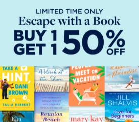 B1G1 50% Off Escape with a Book