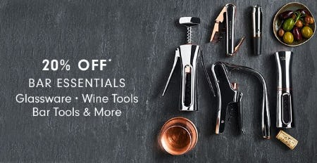 20% Off Bar Essentials