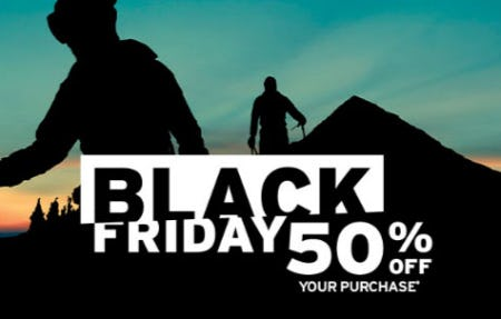 Black Friday 50% Off Your Purchase from Eddie Bauer
