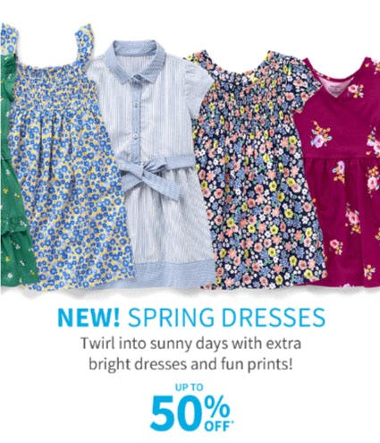 Up to 50% Off Spring Dresses from Carter's
