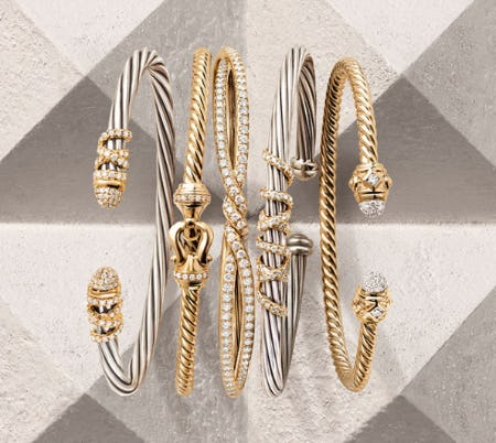 David Yurman Cable Bracelets from Fink's Jewelers