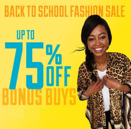 Up to 75% off Back To School Fashion Sale from Belk