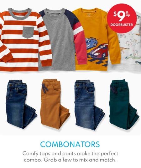 $9 & Up Doorbuster Combonators from Carter's